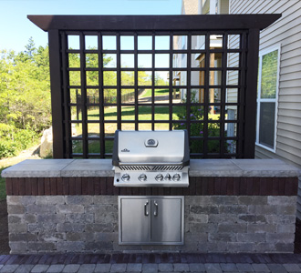 Finished outdoor grill, Greener Horizon project