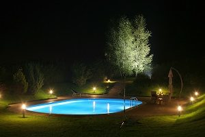 Pool and garden night lighting